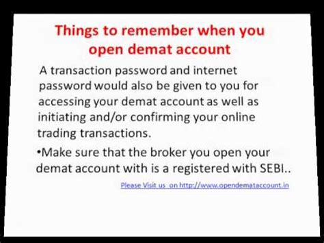 how to open demat account youtube