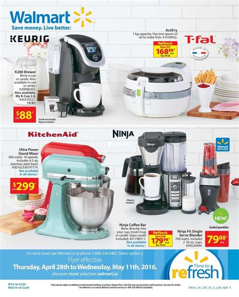 walmart small kitchen appliances walmart small appliances flyer april 28 to may 11 canada