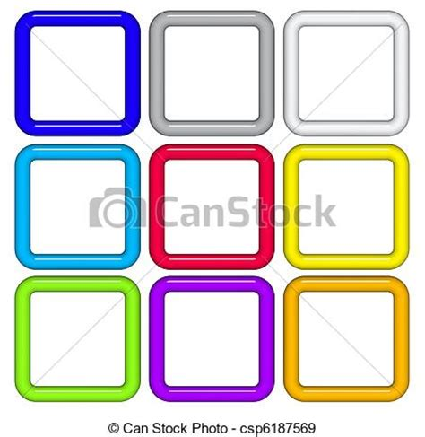 Ecken Block Formen by Stock Illustration 3d Render Quadrat Rohr Formen