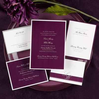 aubergine pocketfold wedding invitations eggplant wedding invitations archives the wedding