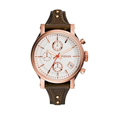 jual fossil es3616 jam tangan wanita coklat tua harga kualitas terjamin blibli
