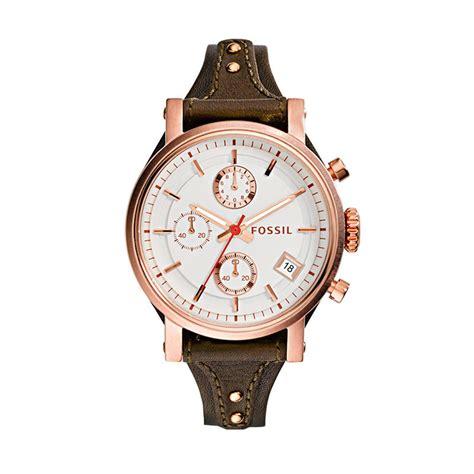 Jam Tangan Fossil Coklat 1 jual fossil es3616 jam tangan wanita coklat tua