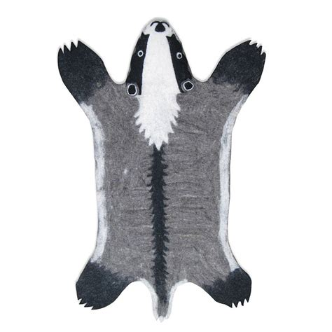 animal rug billie badger handmade felt animal rug by sew felt notonthehighstreet