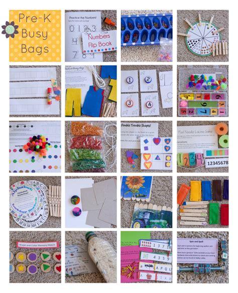 ideas for preschoolers 100 busy bag ideas from six stuff six
