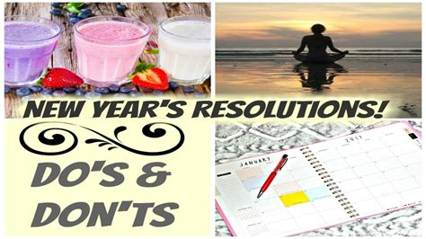 new year do s and don ts new year s resolutions do s and don ts to be successful