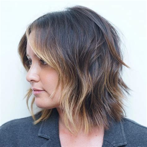 face frame highlight styles 20 inspirational long choppy bob hairstyles