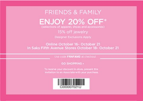 Invitation Sle For Saks Fifth Avenue Is A Friends And Family Sale And You Re Invited What S Haute