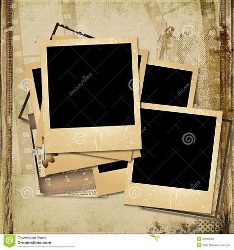 Grunge Background With Old Polaroid Frames Stock Illustration Illustration Of Polaroid Vintage Photo Album Template