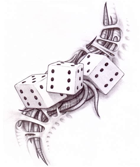biomechanical dice tattoo designs tattooshunt com