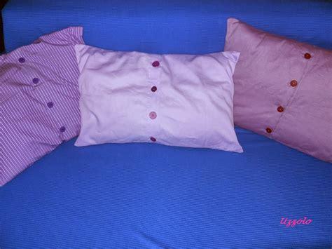cuscino fai da te riciclo creativo camicia pu 242 trasformarsi in un cuscino