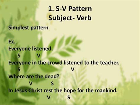 sentence pattern s lv pn exles basic sentence patterns weeheey