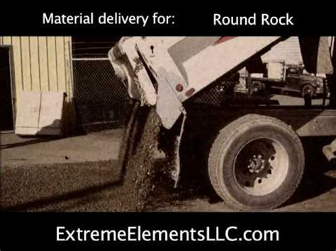 material delivery crushed rock spreading