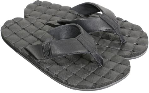 Volcom Recliner Sandals Volcom Recliner Leather Sandals Black Free Shipping