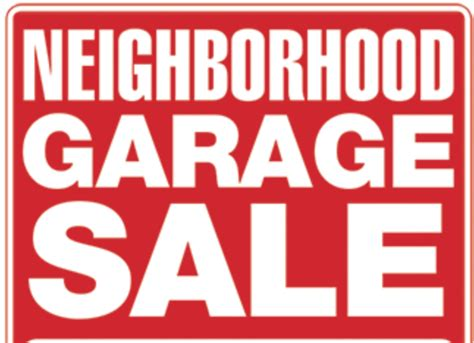 Garage Sale On by Wellington Subdivision