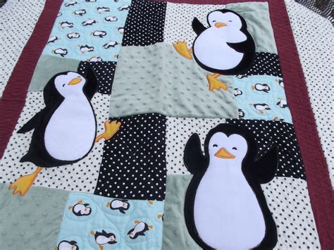 Penguin Quilt Pattern by Penguin Baby Quilt By Outoftheclosetquilts On Etsy