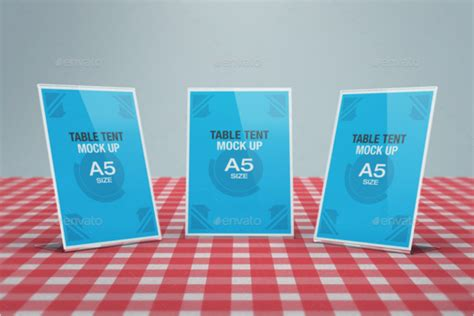 a5 tent card template a5 table tent card mockup