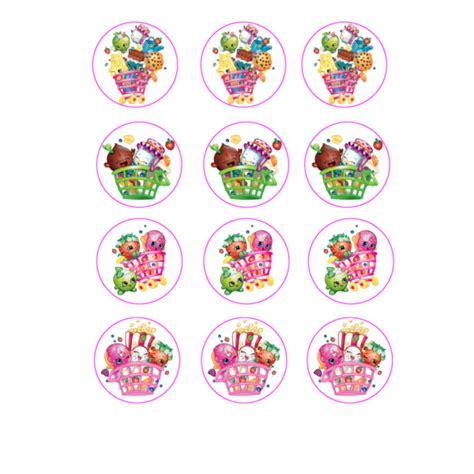 Shopkins Cake Topper Shoppin characters shopkins cupcake
