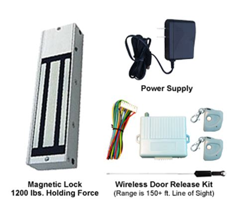 Magnetic Door Lock With Remote by One Door Magnetic Lock Kit 1200lbs Hold With Remote Transmitters Receiver Basic