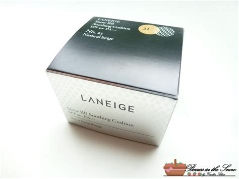 Laneige Snow Bb Cushion review laneige snow bb soothing cushion no 21 berries in the snow