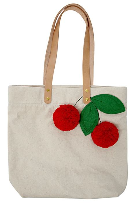 meri meri cherry tote bag from portland by pulp circumstance shoptiques