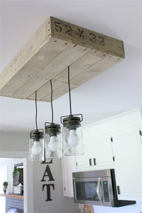 unique diy farmhouse overhead kitchen lights 7 simple diy farmhouse projects the happy housie