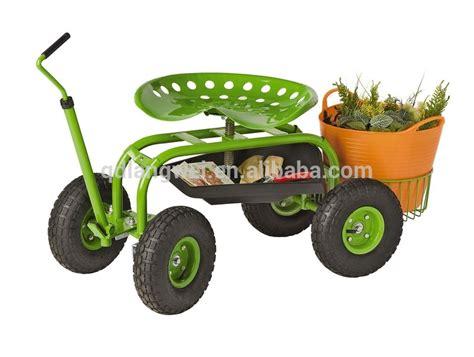 metal rolling garden stool adjustable height rolling garden stool buy rolling