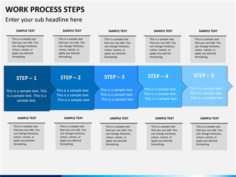 process steps template work process steps powerpoint template sketchbubble