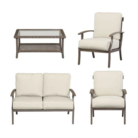 hton bay woodbury patio sofa patio seating slipcover set hton bay beverly 5 patio