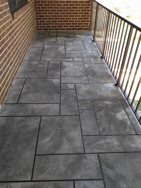 How To Refinish A Concrete Patio by Concrete Balcony Resurfacing Wilmington Concrete Resurfacing
