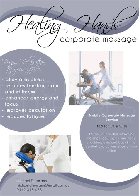 templates for massage flyers massage business flyer flyers poster corporate