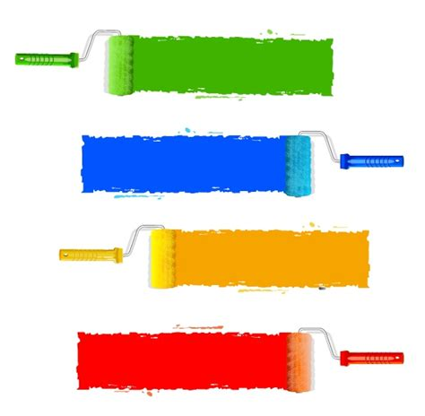 paint rollers free vector 4vector