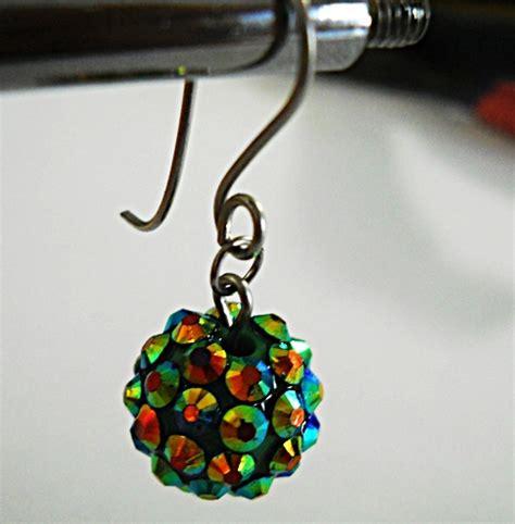 Anting Mawar Atom Anting Kain Kecil kreasi craft tutorial membuat aksesoris sendiri