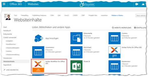 workflow in office 365 nintex site workflows in office 365 starten busitec