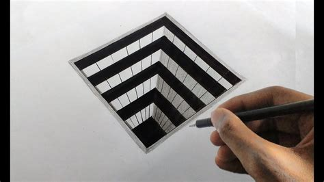 Square 3d how to draw a 3d square easily 3d drawing on