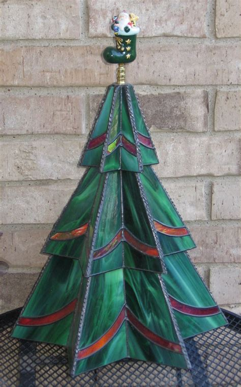 christmas tree pattern stained glass stained glass three tier christmas tree pattern