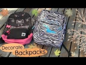 how to decorate a backpack decorate backpacks bookbags back to school diy