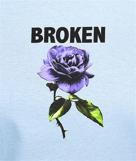 Broken Promises broken promises thornless powder blue sleeve t shirt