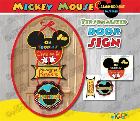 mickey mouse birthday party sign mickey mouse clubhouse birthday door sign by itsallaboutkidz