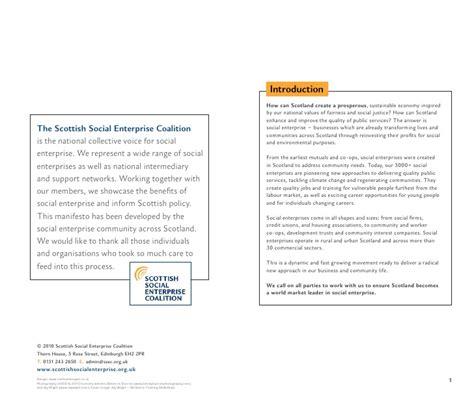 How Can Social Enterprises Generate A Manifesto For Social Enterprise In Scotland