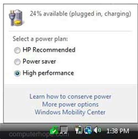 missing laptop battery icon in windows