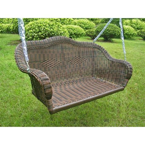 porch swing wicker porch swing wicker hanging patio furniture loveseat glider