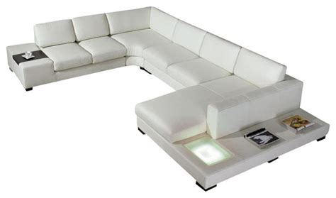 T35 Sectional Sofa Divani Casa T35 Modern Leather Sectional Sofa With Light Modern Sectional Sofas By