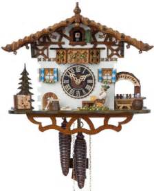 Clock Made Of Clocks Cuckoo Clocks Authentic German 1 Day Chalet Clock