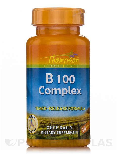 B Complex Plus 30 Tablet vitamin b 100 complex timed release formula 30 tablets
