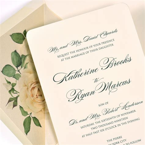 Thermography Wedding Invitations