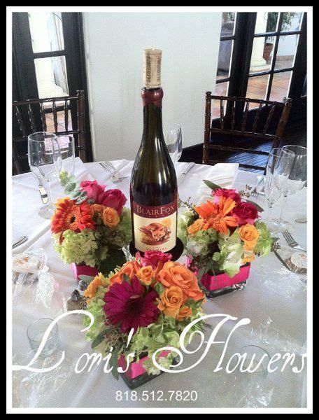 wine themed centerpiece ideas