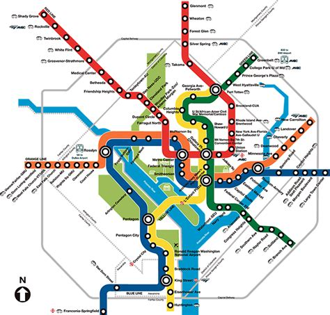 dc subway map washington d c subway map rand