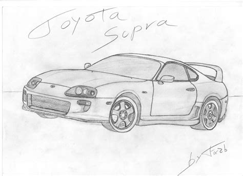 Toyota Supra Drawing Toyota Supra By Fx2b On Deviantart