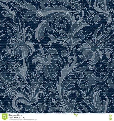 jeans pattern vector free vector jeans background with flowers denim seamless