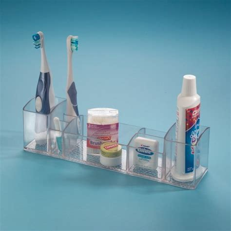 Drawer Toothbrush Holder by Interdesign Bathroom Tray Organizer Vanity Toothbrush